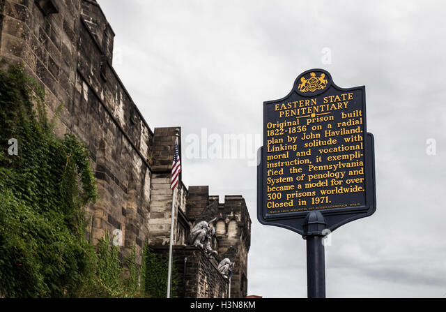 a history of the eastern state penitentiary in philadelphia