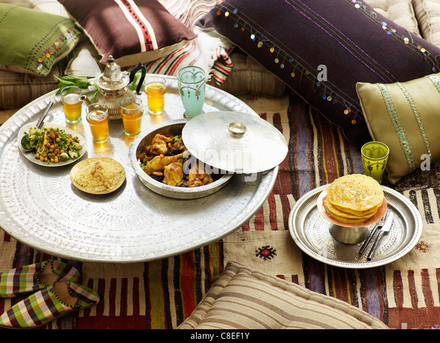 Moroccan lunch - Stock Image