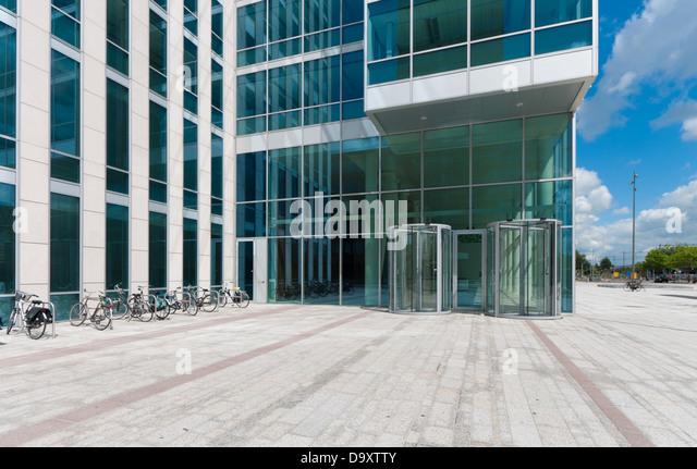 Office building entrance doors