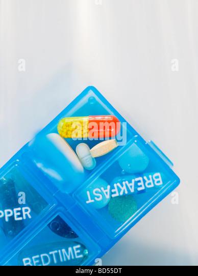 Pill dispenser - Stock Image