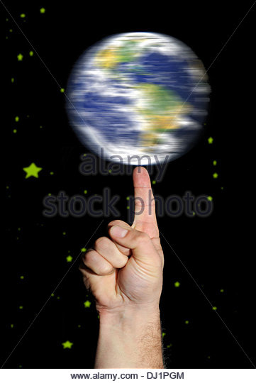 Digital Composition Fragile Earth./ Intergalactic Basketball. - Stock Image