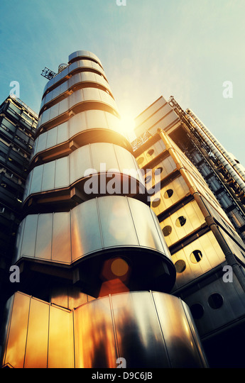 sunny architecture lloyds building - Stock Image