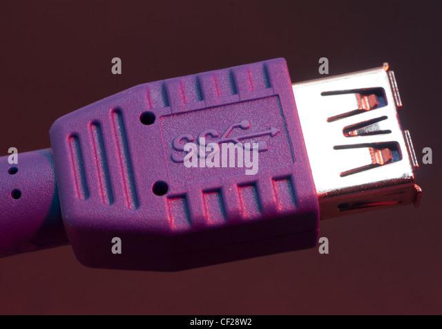 USB 3  Superspeed - Stock Image