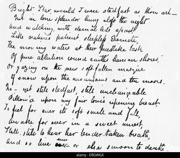 an analysis of john keatss poem bright star