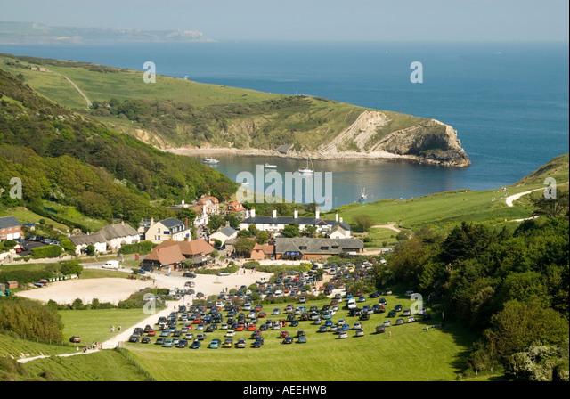 View of Lulworth Cove, Dorset, England UK - Stock Image