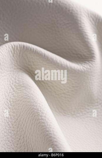 Wrinkled leather background - Stock Image