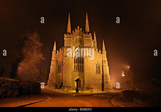 Down Cathedral, Captured at night, Downpatrick. Ireland - Stock Image