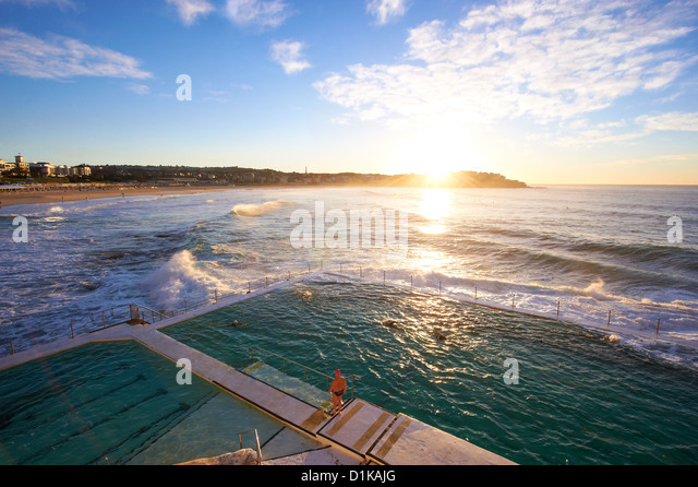 Bondi Icebergs, Sydney New South Wales Australia - Stock Image