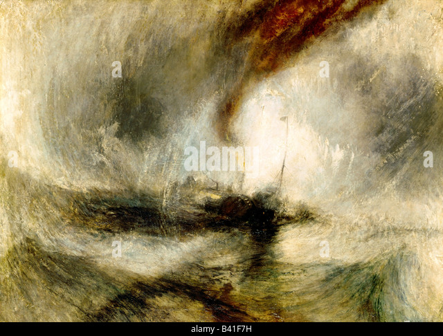 "fine arts, Turner, Joseph Mallord William (1775 - 1851), painting ""Snow Storm"", 1842, oil on canvas, Tate - Stock Image"