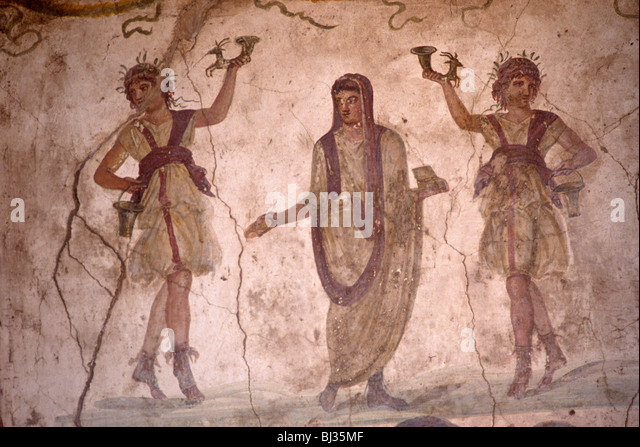 an-ancient-roman-fresco-in-the-lararium-