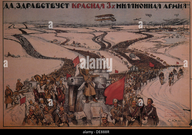 an analysis of the russian civil war and the role of the bolshevik red army
