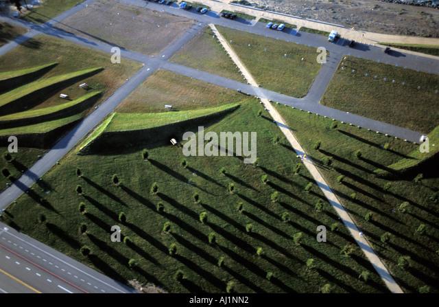 California, San Francisco, Aerial view of Crissy Field Stock Photo