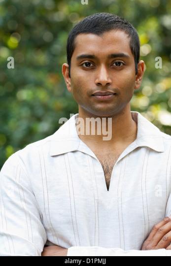 Serious Indian man - Stock Image