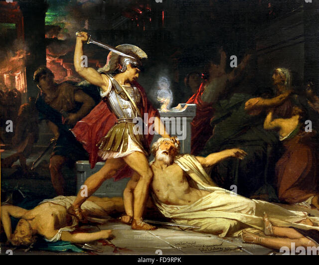 an introduction to the literary analysis of king priam of troy Analysis of the death of priam using lessings ideas when applying lessings from com lit 41a at berkeley.