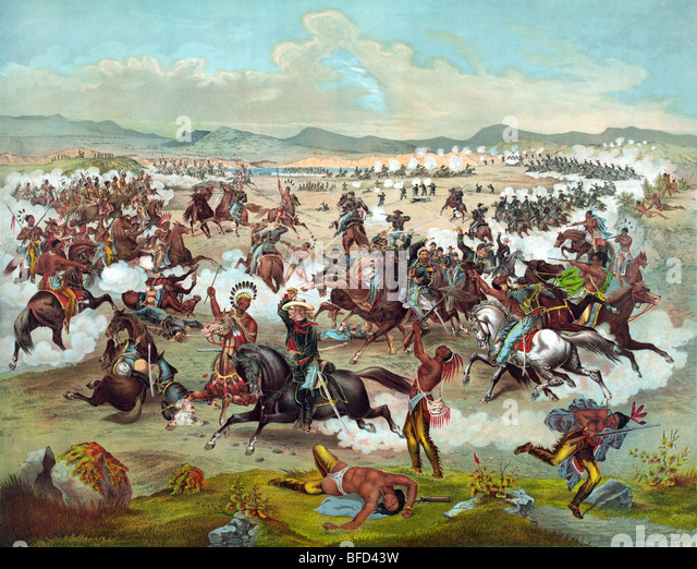 a history of the battle of the little big horn between the native american indians and the american