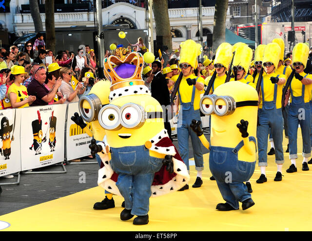 London, UK. 11th June, 2015. Minions attending the World Premiere of MINIONS at the Odeon  London 11th June 2015 - Stock Image