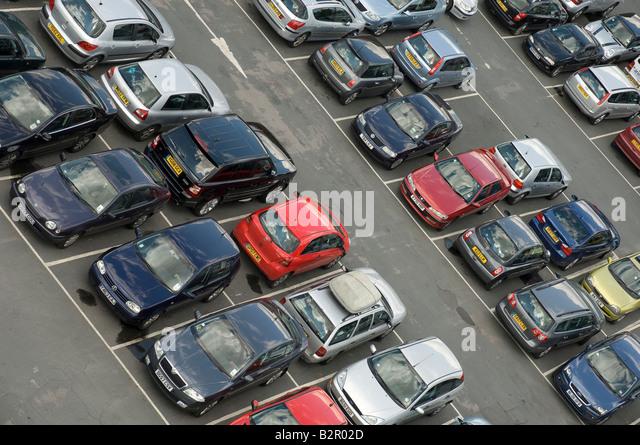Public car park England UK United Kingdom GB Great Britain - Stock Image