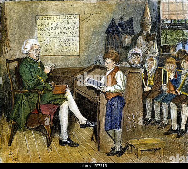 history of education 18th century