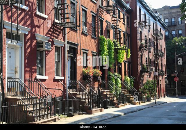 Gay Street, Greenwich Village, West Village, Manhattan, New York City, USA - Stock Image