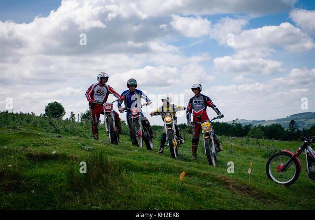 group-of-motor-cross-bike-riders-waiting