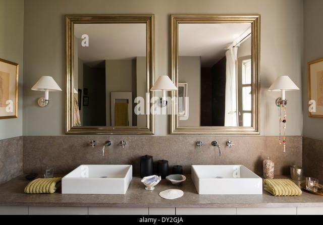 White vanity stools for bathroom