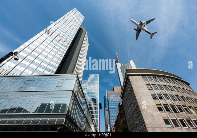skyscrapers and airplanes