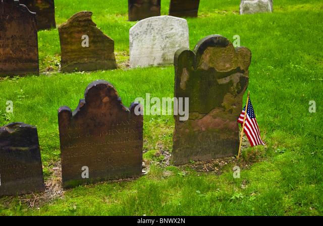 Cemetery at Saint Paul's Church - Stock Image