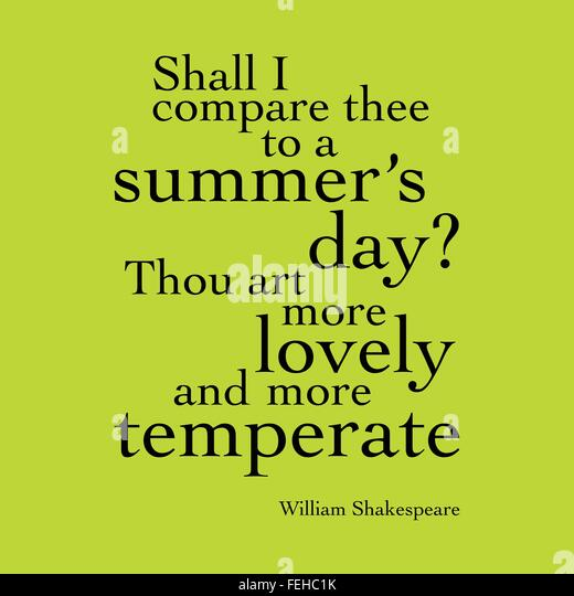 an analysis of shall i compare thee to a summers day by william shakespeare