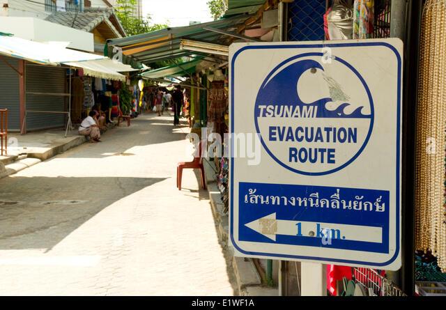Tsunamis warning signs
