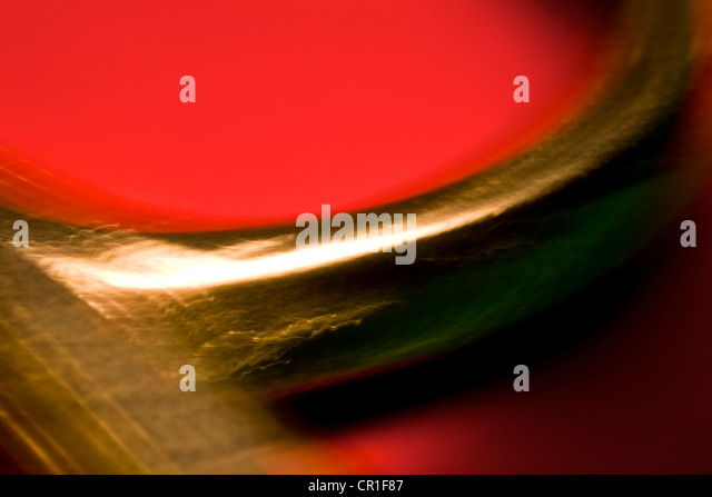 Extreme closeup of scissors. Abstract image taken with a high magnification macro lens. - Stock Image