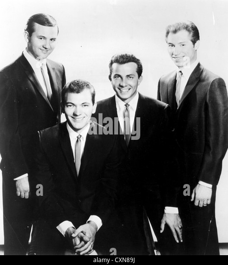 THE CRICKETS  1950s US group from l: Sonny Curtis, Jerry Allison, Jerry Naylor, Glen Hardin - Stock Image