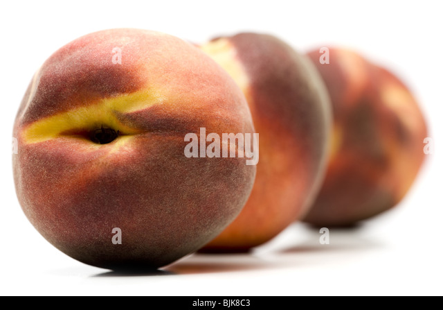 Three peaches - Stock Image