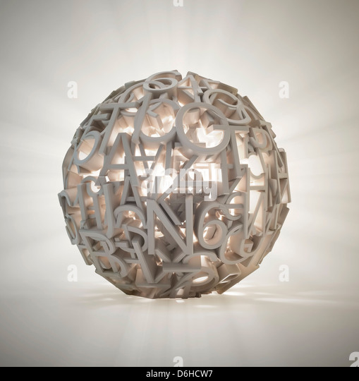 Global data, conceptual artwork - Stock Image
