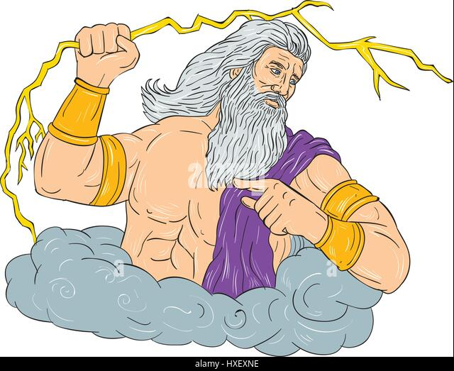 a look the god of the sky and ruler of the olympian god zeus