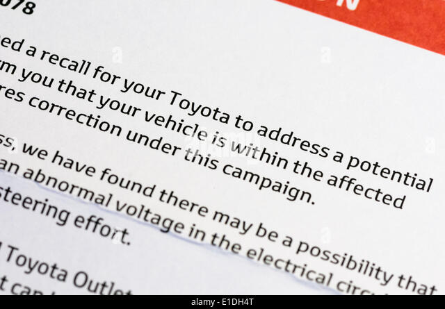 questionnaire on toyota recall