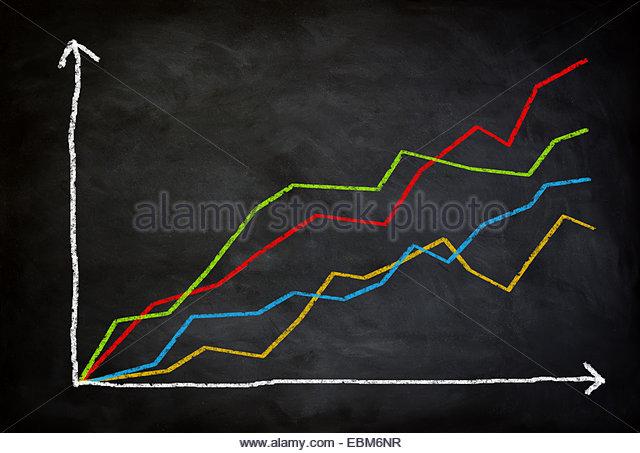 line diagram report concept - Stock Image