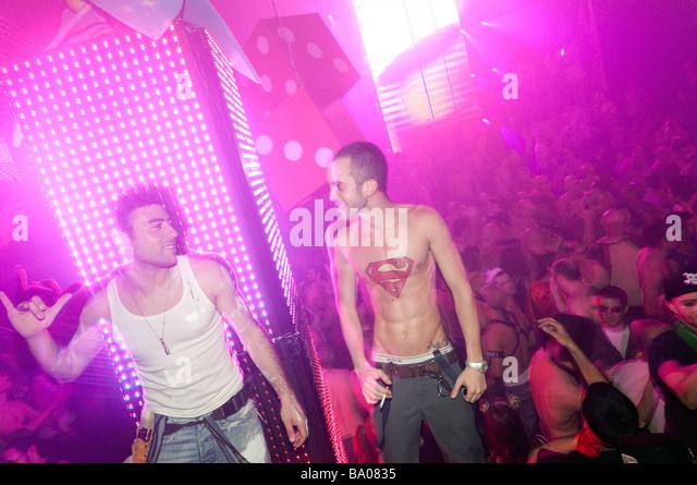 Gay night at Haoman 17 nightclub in Tel Aviv Israel - Stock Image