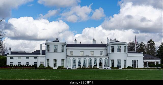 The American Ambassador's Residence in the Phoenix Park Built originally in 1776, it was the official residence of the of the British Chief Secretary - Stock Image