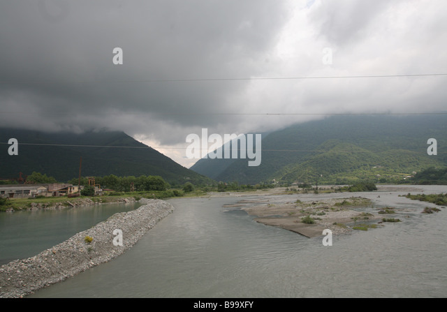 The River Bzyb in Abkhazia - Stock Image