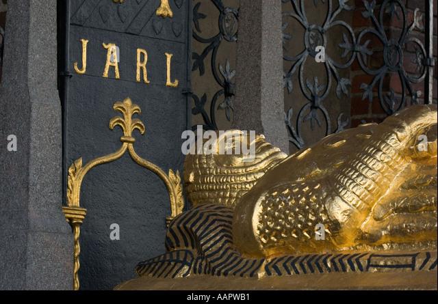 Sweden, Stockholm, Stadshuset, Tomb of Birger Jarl - Stock Image
