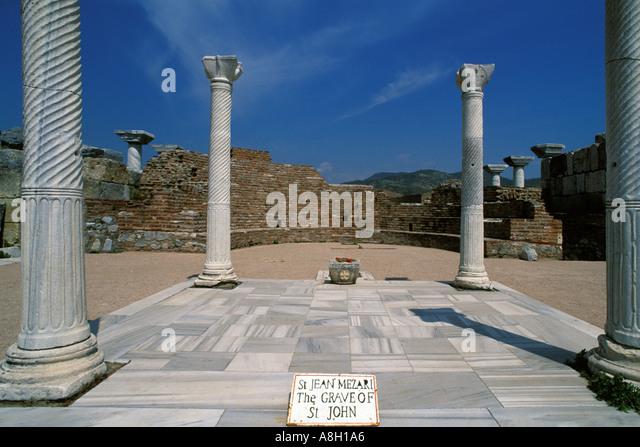 Turkey, Selcuk, Burial site of Saint John in Basilica of Saint John - Stock Image