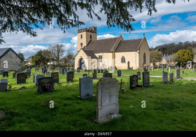 PARISH CHURCH OF ST MARY AT PORTSKEWETT MONMOUTHSHIRE ON CALDICOT LEVELS ON THE SEVERN ESTUARY. Monmouthshire Wales - Stock Image