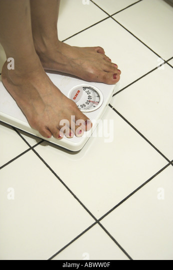 Body Weight Scales - Stock Image