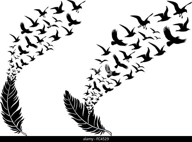 Tribal bird flying tattoo Vector  Free Download