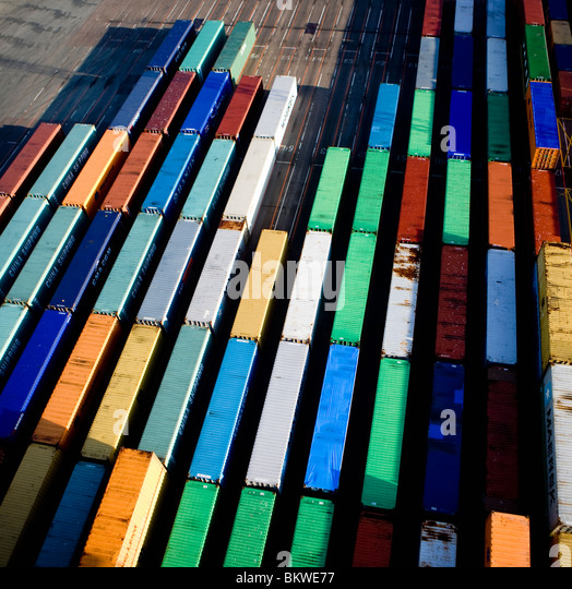 Area with containers - Stock Image