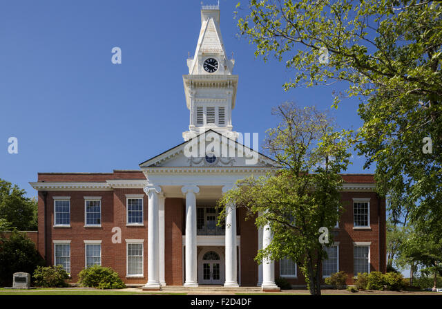 Old Courthouse Milledgeville Georgia USA - Stock Image