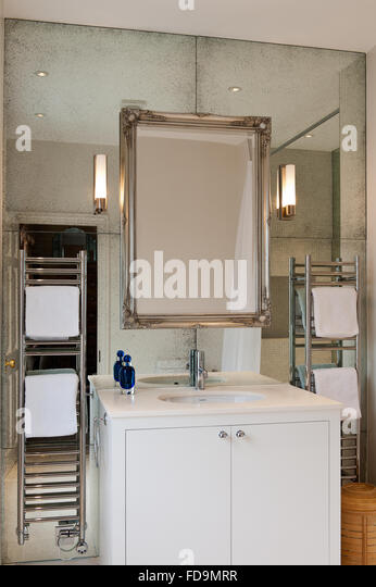 Silver bathroom mirrors
