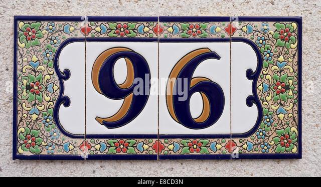Ceramic tile numbers