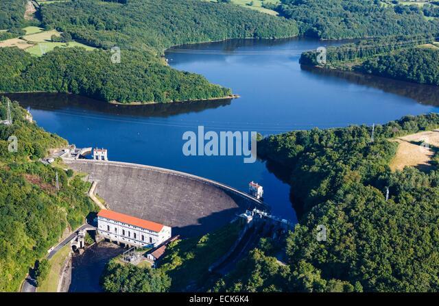 france-indre-cuzion-eguzon-dam-aerial-vi