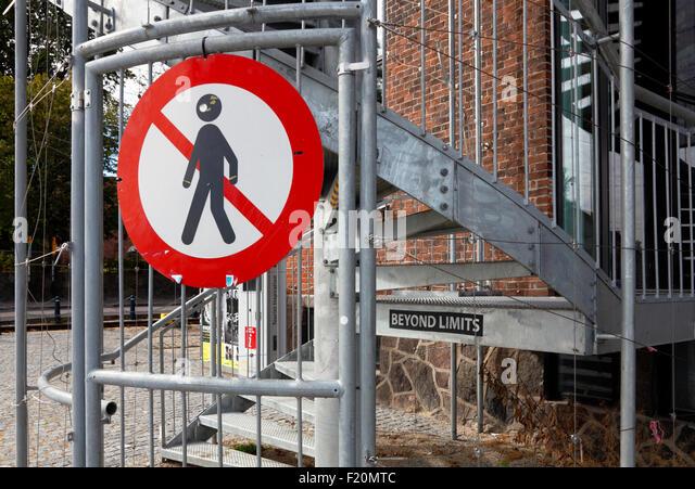 beyond-limits-no-entry-sign-strange-word